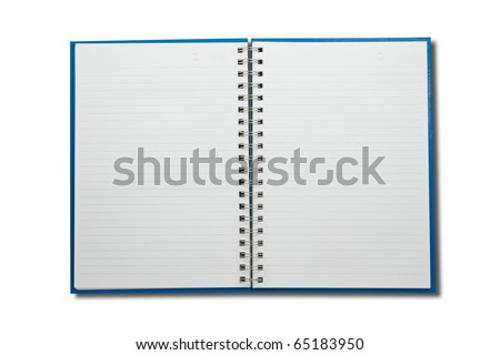 Blank NoteBook open two face - stock photo