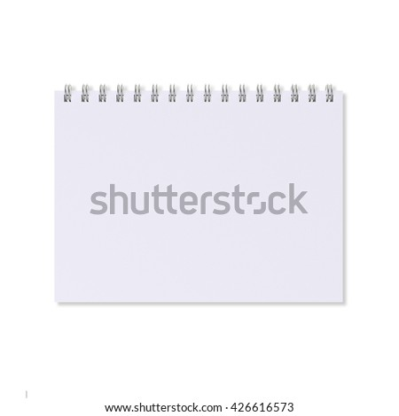 Blank notebook with ring binder, isolated on white background
