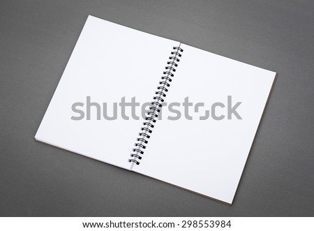 Blank notepad notebook - stock photo