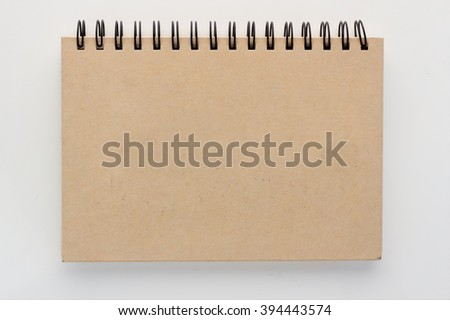 blank Notepad on white background.jpg - stock photo