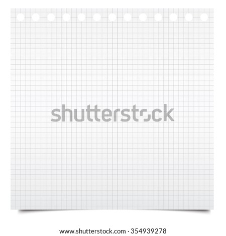 Blank notepad page - stock photo