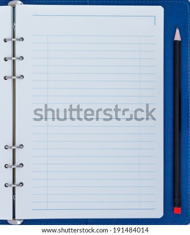 Blank Notepad with pencil - stock photo