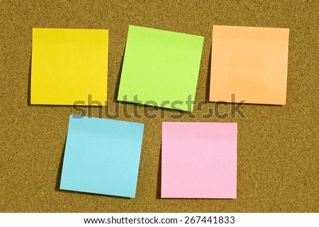 Blank Notes With Copy Space On Corkboard