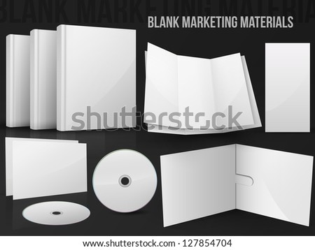 Blank office marketing materials - stock photo
