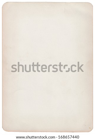 Blank old card - stock photo