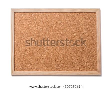 Blank old corkboard - stock photo