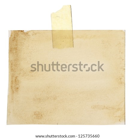 Blank old paper for notion - stock photo
