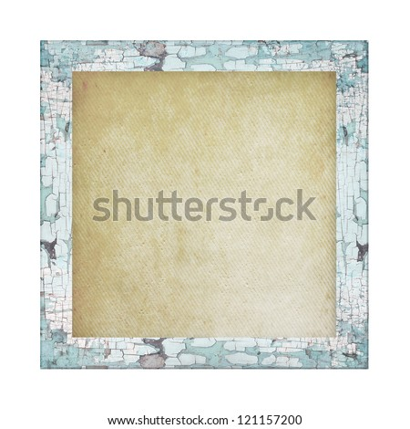 Blank old photo frame square - stock photo