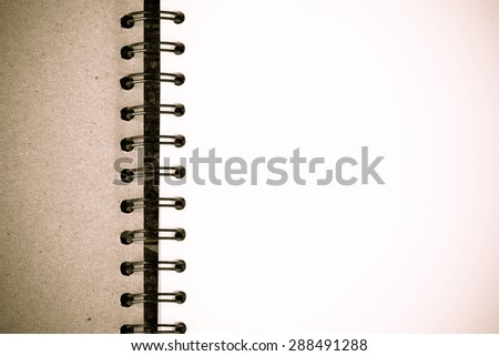 Blank old vintage style of stationery paper for presentation and business