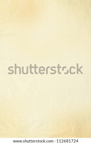 Blank old yellow / gold paper sheet background or textured - stock photo