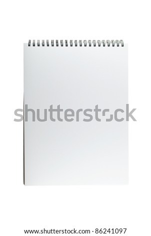 Blank one face white paper