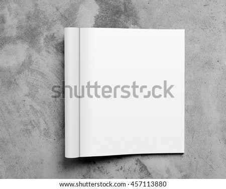 Blank open magazine template isolated on textured background with clipping path ready for your artwork - stock photo