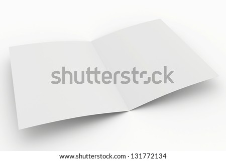 blank open paper on a white background - stock photo