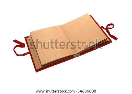 blank opened album - stock photo