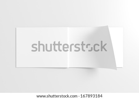 Blank Opened Catalog isolated on white for your design - stock photo