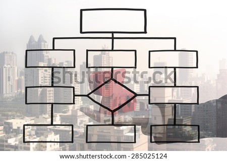 Empty Flow Chart Diagram Isolated On Stock Illustration
