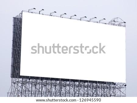 Blank outdoor billboard - stock photo