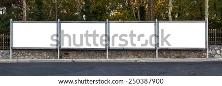Blank outdoor four - stock photo