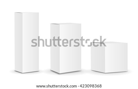 Blank package Box set.  - stock photo