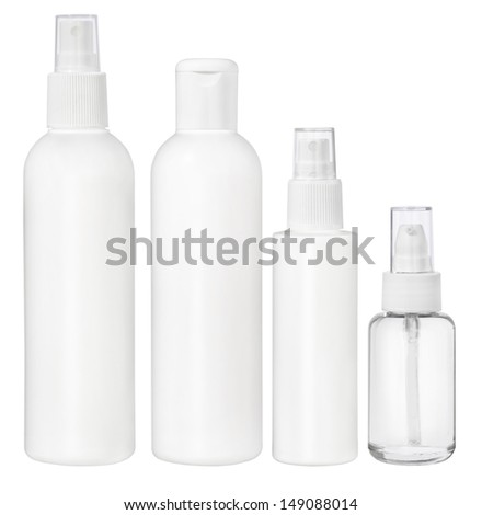 Blank packaging - bottles, cosmetics - stock photo
