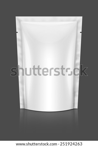 Blank packaging foil pouch isolated on background