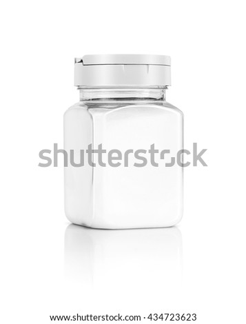 blank packaging salt bottle isolated on white background with clipping path