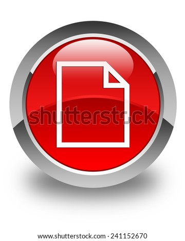 Blank page icon glossy red round button - stock photo