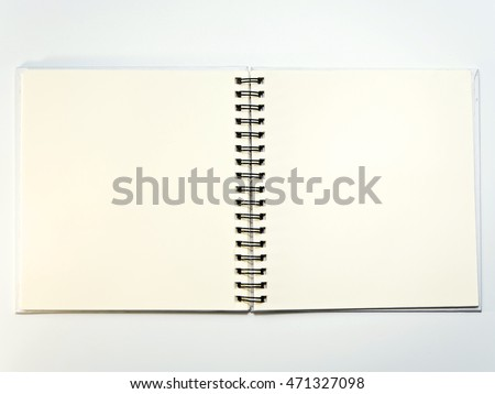 Blank page no line white paper of Notebook