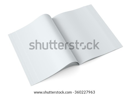 Blank pages inside of magazine