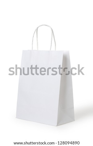 blank paper bag - stock photo