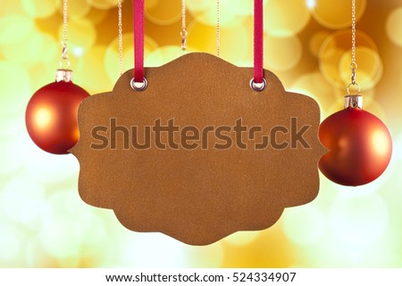 Blank paper card on yellow background