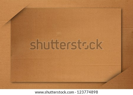 Blank paper cards inserted into another piece of paper background