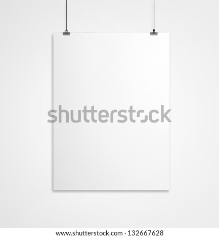 blank paper clips and white background - stock photo