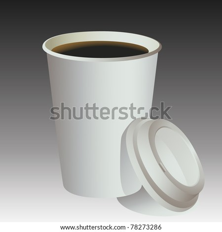 Blank Paper coffee cup background. - stock photo