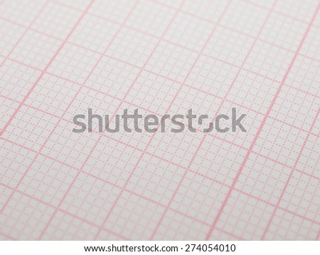 blank paper ecg electrocardiogram background, ekg - stock photo