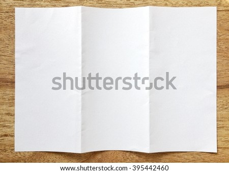 Blank Paper folder on table