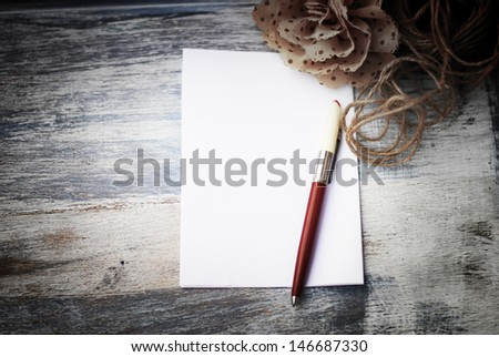 blank paper on wooden table