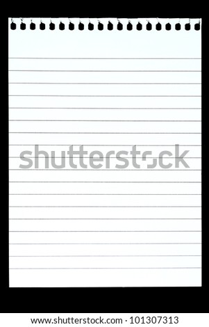 Blank paper over black background