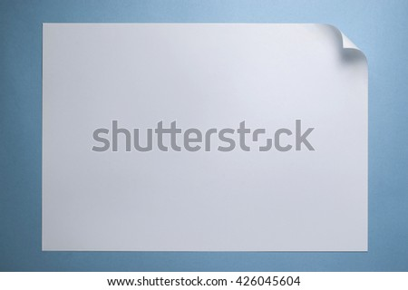 Blank paper page with curl, copy space for Your text. - stock photo