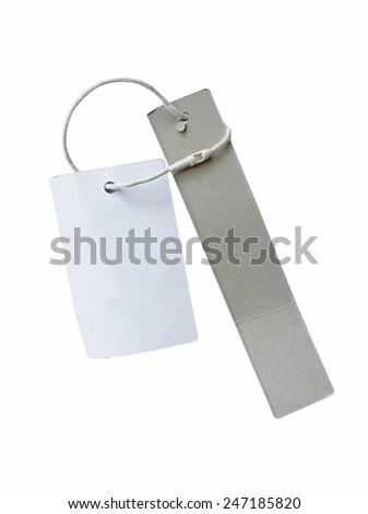 Blank paper price tag or label isolated (with clipping path)