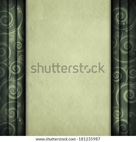 Blank paper sheet on retro pattern background