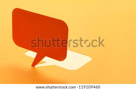 Blank paper speech bubbles of cartoon and comics over background - stock photo