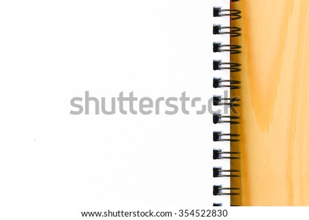 Blank paper use for background