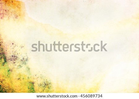 Blank paper watercolor texture - painted with brush, creative paper background - stock photo