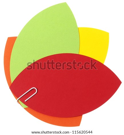 Blank papers in happy colors - stock photo