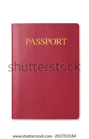 Blank passport - stock photo