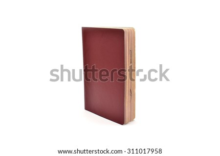 Blank Passport Book Cover - stock photo