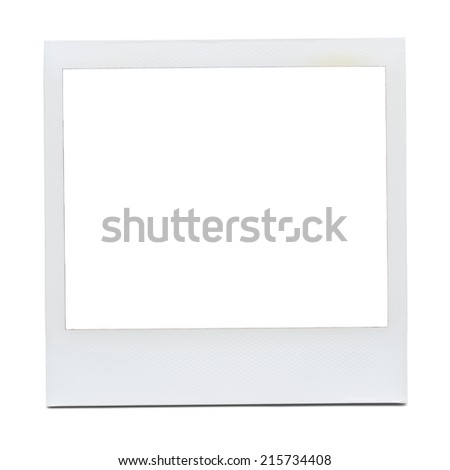 Blank Photo Frame. - stock photo
