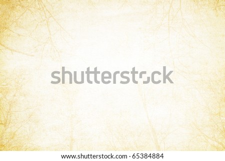 Blank photo frame on paper - stock photo