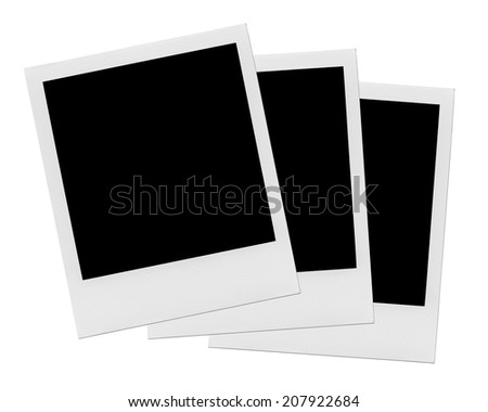 Blank Photo Frames. - stock photo